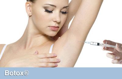 درمان تعريق با تزريق بوتاكس